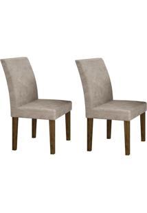 Conjunto Com 2 Cadeiras Olímpia Ipê E Pena Palha