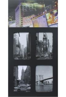 Painel De Fotos Downtown 4 Fotos 10X15Cm Colorido Kapos