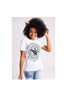 Camiseta Bossa Brasil Save The Ocean Branca