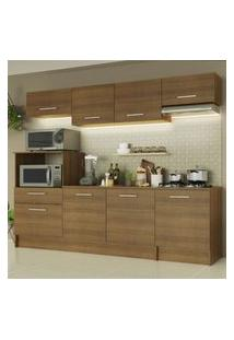 Cozinha Completa Madesa Onix 240001 Com Armário E Balcáo - Rustic Marrom