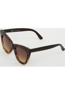 Óculos De Sol Gatinho- Marrom & Laranja- Les Bains Ples Bains Paris