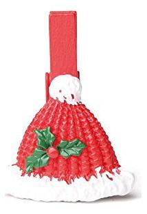 Prendedor Gorro De Natal 6 Pçs 4Cm Vermelha