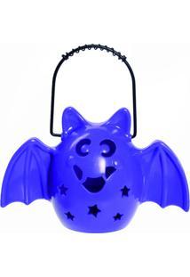 Enfeite Morcego Com Som- Roxo & Preto- 17,5X11,7X7Cmcromus