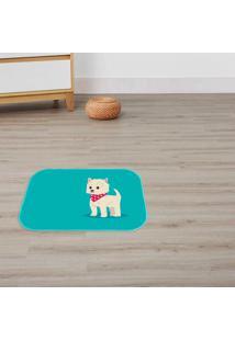 Tapete Decorativo Dog Azul ÚNico - Multicolorido - Dafiti