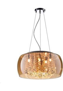 Pendente Plafon Cristal Verona Âmbar 40W - Pd/Pl400/Ab - Kin Light - Kin Light