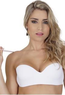 Sutiã Click Chique Básico Com Renda Branco