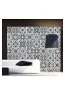 Adesivo De Azulejo Black Classic 20X20Cm