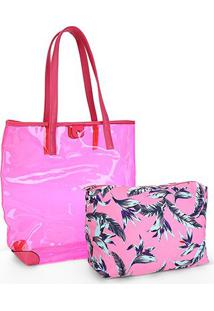 Bolsa Pagani Tote Bag Feminina - Feminino-Pink