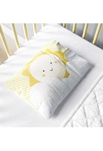 Fronha Bebê Nuvem De Algodão E Sol Amarelo Grão De Gente Amarelo