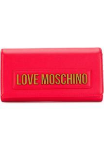 Love Moschino Carteira Com Placa De Logo - Vermelho