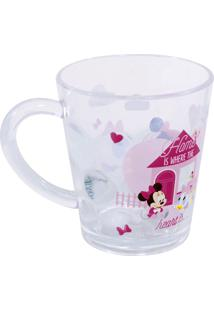 Caneca Minas De Presentes Minnie Transparente