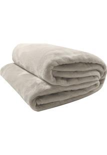 Cobertor Velour Queen Size- Bege- 220X240Cm- 300Camesa