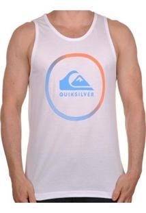 Regata Quiksilver Active Logo Masculina - Unissex-Branco