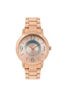 Relógio Condor Feminino Mensagens Analógico Rosé Co2034Ack4J