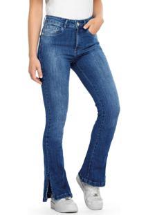 Calça Azul Bootcut Jeans