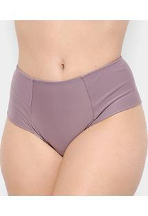 Calcinha Marcyn Lateral Dupla Plus Size - Feminino-Violeta
