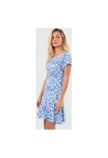 Vestido Lança Perfume Curto Sino Azul