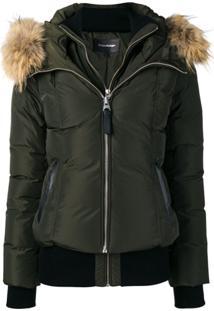Mackage Zipped Hooded Jacket - Verde