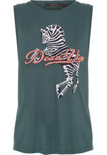 Regata Bordado Zebra Animale - Verde