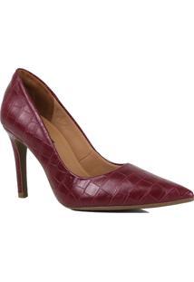 Sapato Scarpin Zariff Salto Fino Animal Print