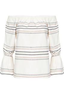 Blusa Feminina Bordado - Off White