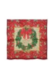 Capa Para Almofada Decoração Natal 44X44Cm Cor Vermelho