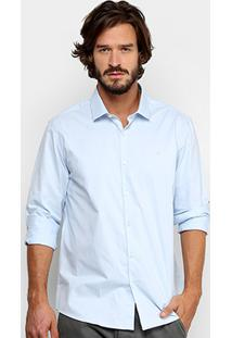 Camisa Social Calvin Klein Regular Fit Masculina - Masculino
