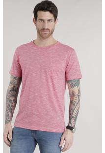 Camiseta Com Bolso Vermelha