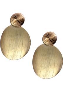 Brinco Smm Acessorios Circular Fosco Dourado