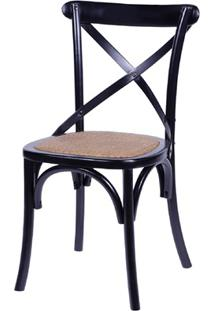 Cadeira Em Madeira Cross 48X55Cm Preta
