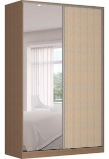 Guarda-Roupa Solteiro Com Espelho Tunas Iii 2 Pt 3 Gv Marrom E Noce