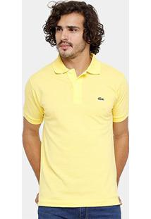 0c50df74af ... Camisa Polo Lacoste Piquet Original Fit Masculina - Masculino-Amarelo  Claro