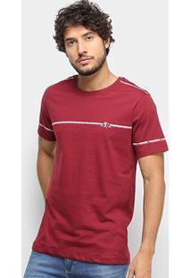 Camiseta T-Shirt Gajang Estampada Masculina - Masculino-Vinho