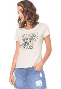 Camiseta Hering Estampada Off-White