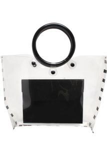 Bolsa Transparente Cristal - Feminino-Preto