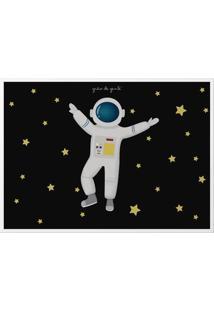 Quadro Astronauta 46Cm Grão De Gente Azul