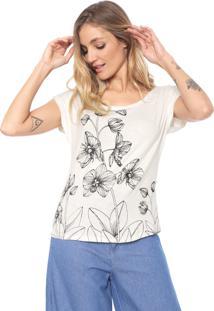 Blusa Mercatto Floral Off-White