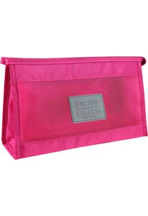 Nécessaire De Viagem- Pink & Cinza- 8X26X16Cmjacki Design