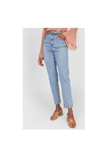 Calça Jeans Lez A Lez Mom Vintage Azul