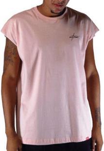 Camiseta Outlawz Sleeve Japanese - Masculino-Rosa Escuro