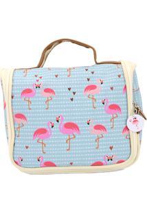 Necessaire Ganchinho - Coleção Flamingo - Mood