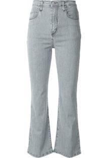 Nobody Denim Calça Jeans Flare Listrada Belle - Azul