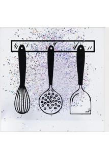 Quadro Decorativo Sandu Utensílios- Branco & Preto- Art Frame