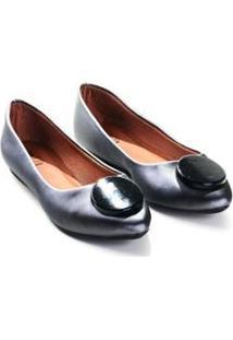 Sapatilha Perlato Mizzi Shoes Com Botom Feminina - Feminino-Cinza