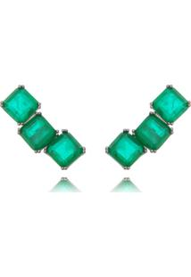 Brinco Waufen Ear Cuff Esmeralda Fusion Verde