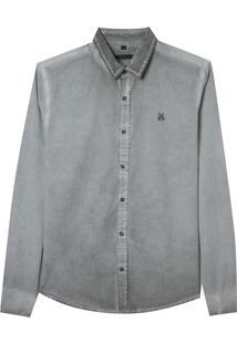 Camisa John John Jason Dark Gray Cinza Masculina (Cinza Chumbo, P)
