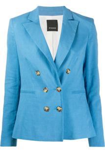 Pinko Blazer Com Abotoamento Duplo - Azul