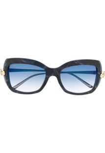 Cartier Panthere Square Frame Sunglasses - Azul