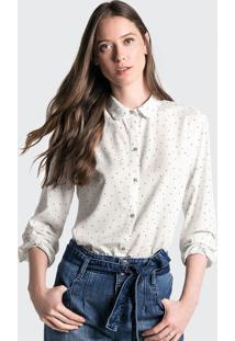 Camisa Manga Longa Em Tecido Estampado