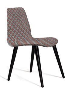 Cadeira De Jantar Eames Palito Cinza E Laranja
